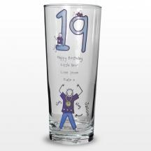 This 18th Birthday Pilsner Glass features a Purple Ronnie Design making it a great birthday gift. Size: H80mm x W180mm x D80mm  Price: £11.99