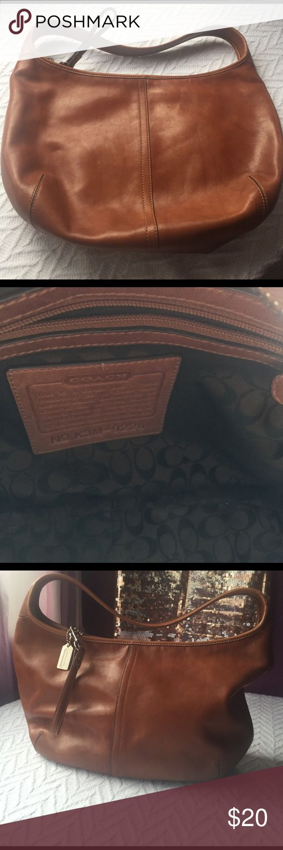Coach- Hobo Bag Coach- Leather Hobo Bag, some flaws as shown on pic. Coach Bags Hobos