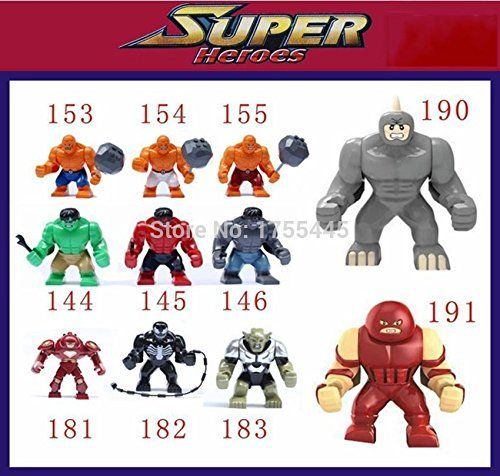 11 Piece Decool Super Heroes Big Hulk/thing/venom/hulk Buster/green Goblin/lazy Rhino/juggernaut No  @ niftywarehouse.com #NiftyWarehouse #IronMan #Iron-man #Marvel #Avengers #TheAvengers #ComicBooks #Movies
