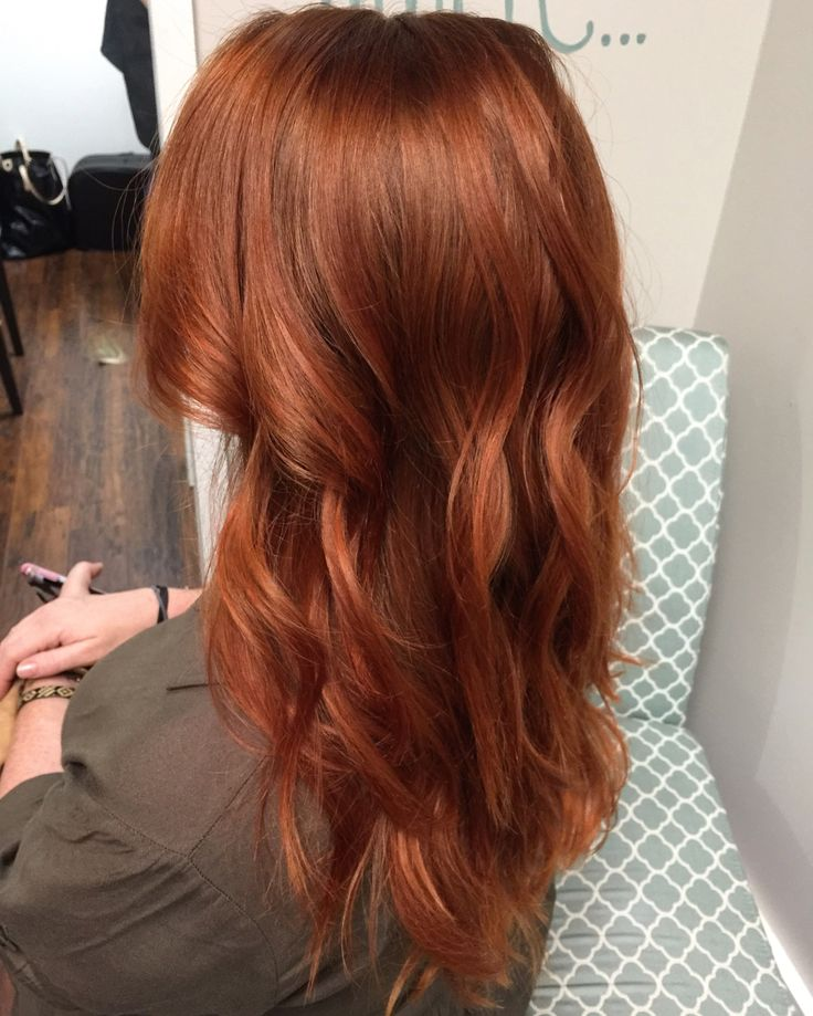 Metallic Copper Red Beach Waves For Days In 2019 Hair