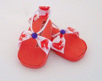 Sandalias medias rojas