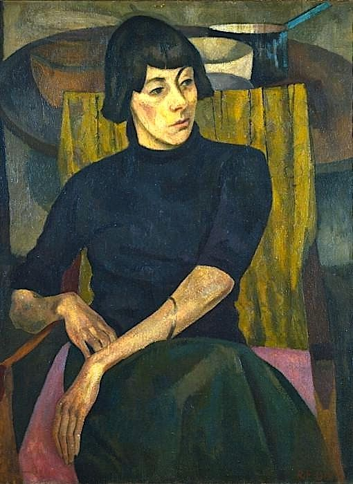 The wild and life-embracing artist Nina Hamnett -- painted here by Roger Fry in 1917 -- was the focus of one of my favorite chapters in Found Meals.