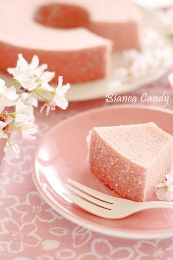 Japanese baumkuchen - Cherry blossom flavored