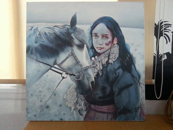 Painting on canvas Oil on canvas Horse Large art by artstudio228