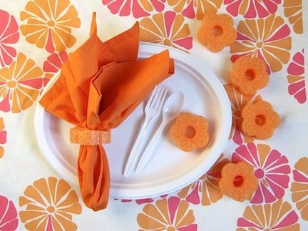 Napkin rings...cut some pool noodles ( preferably new...less germs ) into a tiny shape and push the noodle through the folded napkin....sounds like a fun way to decorate your table   Pool Noodle Crafts: 10 Ways to Use Them Outside of the Pool