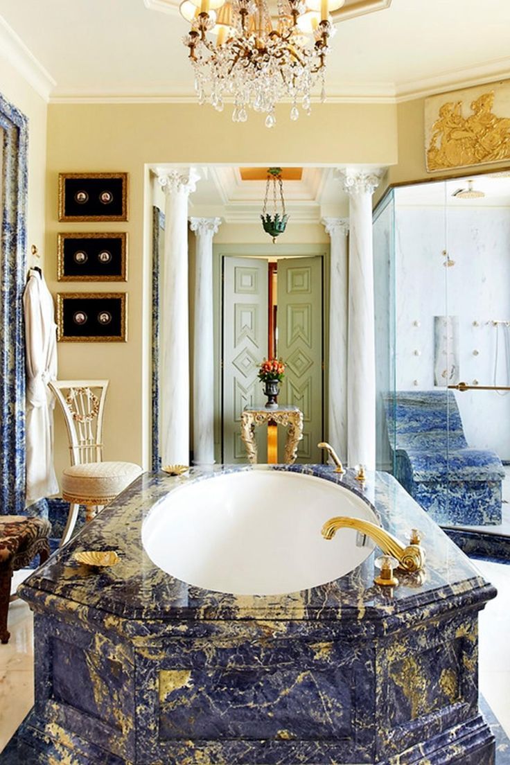 What's better than one palatial bathroom? Two! Hotel Grande Bretagne, a Luxury Collection Hotel, Athens (Athens, Greece) - Jetsetter