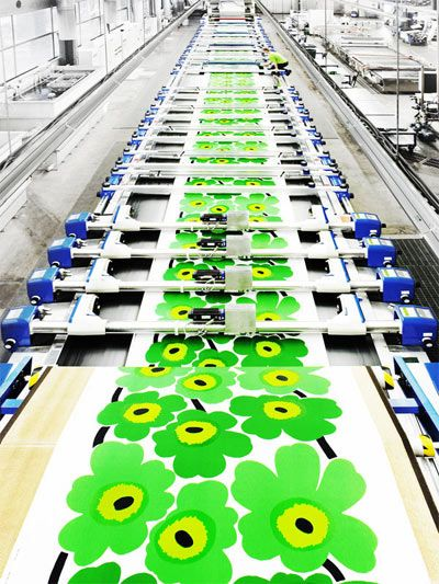 Marimekko Fabric Factory Tour #silkscreen JAMSO supports the manufacturing industry through goal setting, KPI management training and business intelligence solutions. Find out more on http://www.jamsovaluesmarter.com