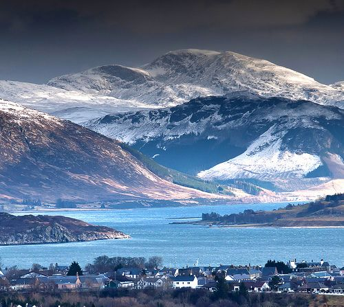 View over Ullapool in Scotland