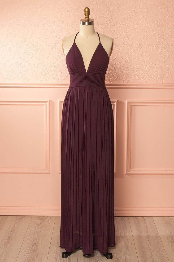 Alvina Eggplant. Maxi GownsProm ...