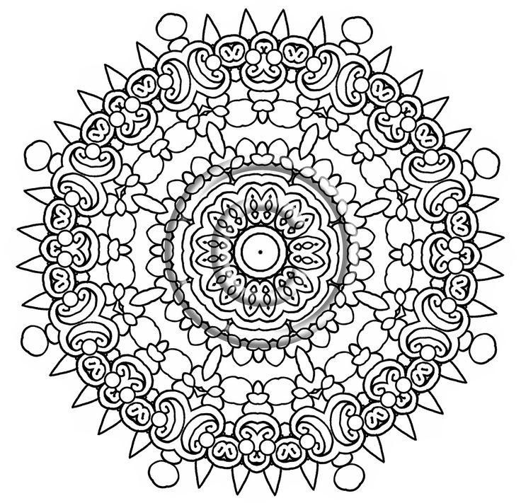 Intricate Mandala Coloring Pages Bing Images Mandala