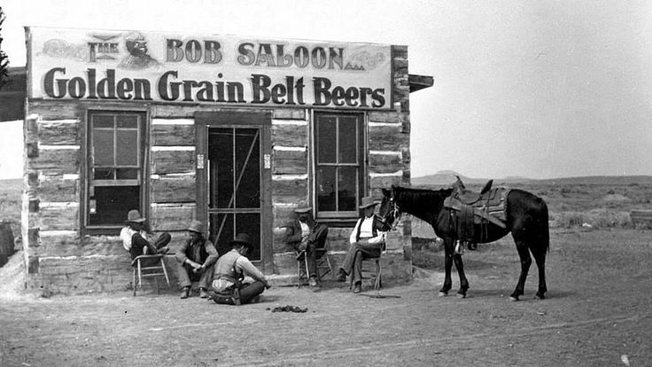 """The Bob Saloon"" in Miles City, Montana, 1880."