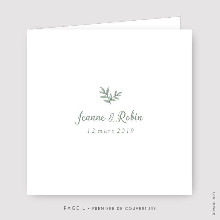Faire-part de mariage Jeanne et Robin / Event of Paper