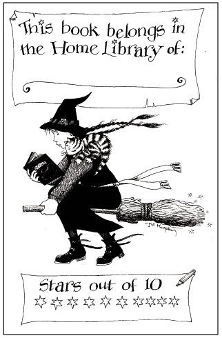 Free book plates by wonderful authors. This is my favourite by Jill Murphy 'The Worst Witch'