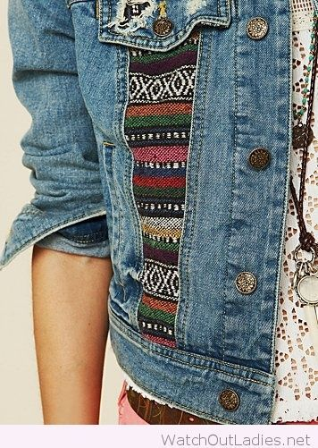 Boho denim jacket design
