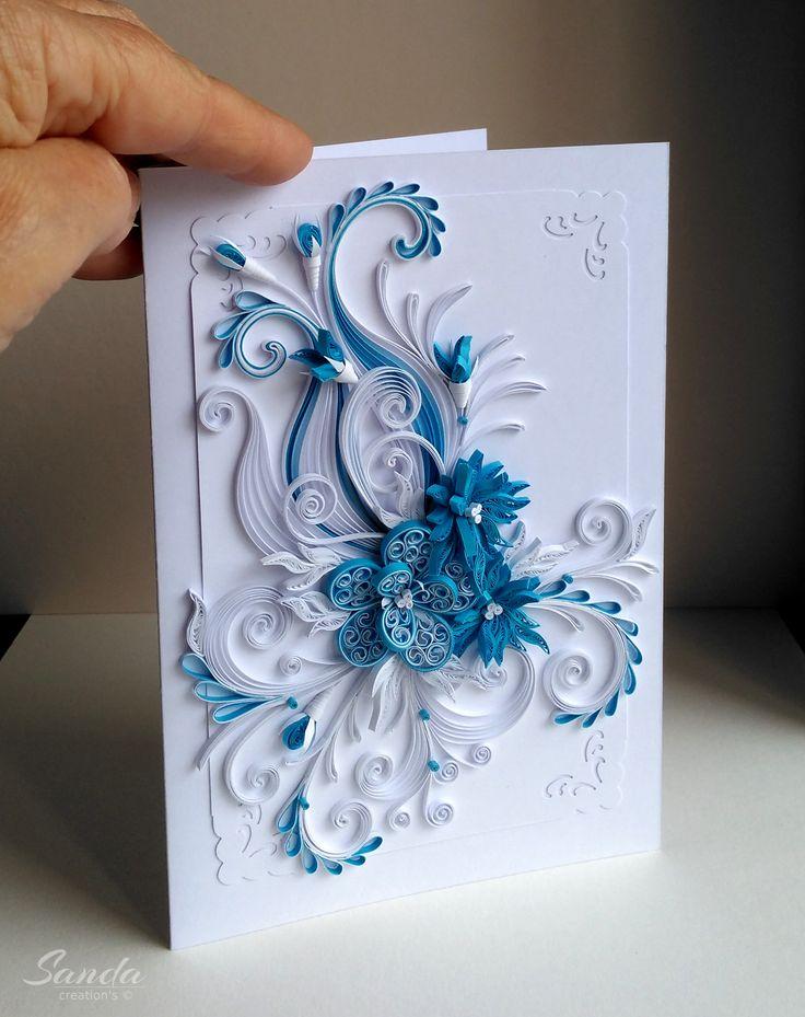 Спокойной, открытка свадебная квиллинг
