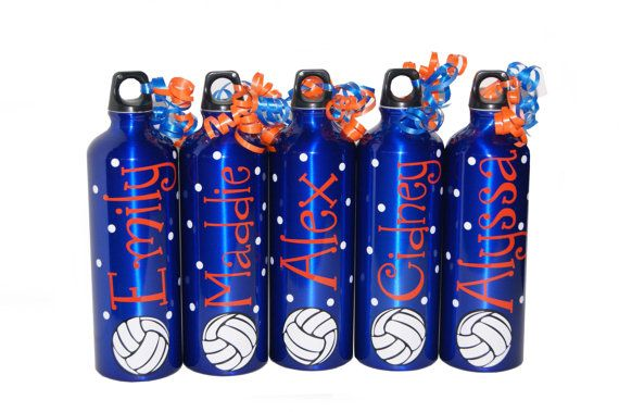 Personalized Aluminum Water Bottle  25 floz  by BeanBearCreations, $7.00