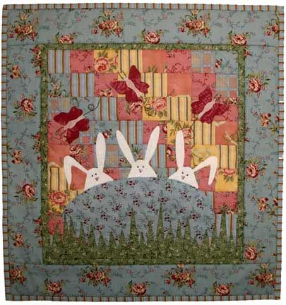 Bunnies in the bed... i love that old nursery sing along... so do my grandkids.  love the quilt idea too