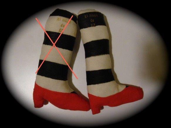 ぬいぐるみ ブローチ オズの魔法使い〜東の魔女の足〜「東の魔女、どこへ行くんだい?」「遠くへ!」大きめなブローチなのでお洋服に付けたら存在感大です。鞄に付けて...|ハンドメイド、手作り、手仕事品の通販・販売・購入ならCreema。