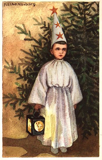Nordic Thoughts: Vintage Lucia postcards by Käthe Norborg