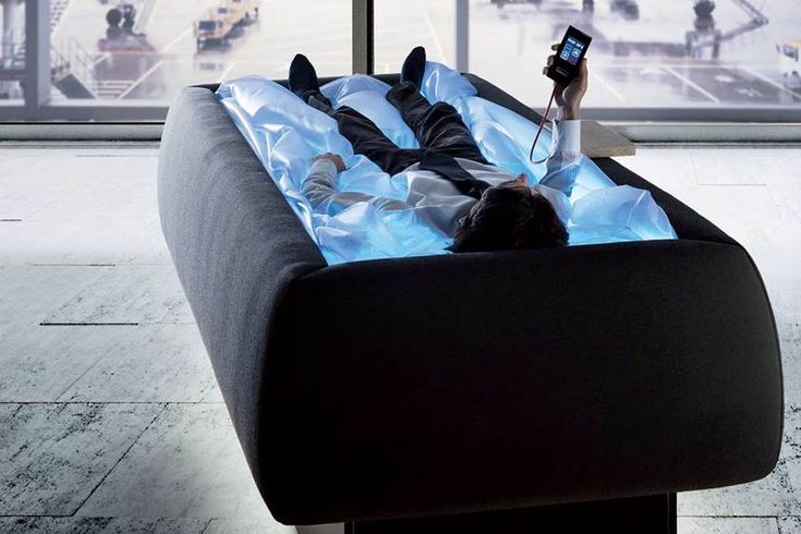 Heated waterbed, makes you feel like you're floating