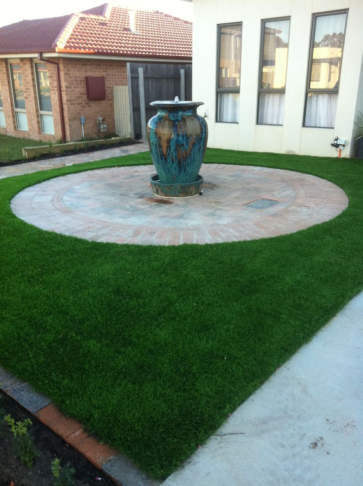J.P.B Paving and Landscaping Canberra www.pavingcanberra.com Water Feature, Paved Circle and Turf