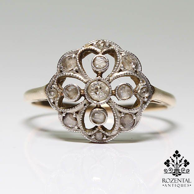 Antique Edwardian 18k Gold Diamond Ring