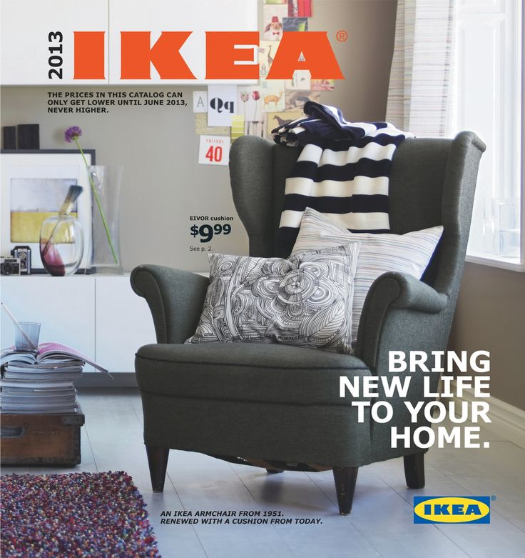 "$280.oo / Love the chair on the cover of the 2013 catalog? It's a classic IKEA ""MK"" chair from 1951. It's getting a redesign and will be available in-store in the coming months. Watch this short video on YouTube about STRANDMON, coming soon!"