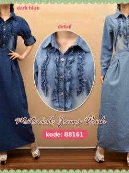 Baju Maxi Jeans Caren 88161 R727, Ready Stok, Untuk pemesanan dan informasi silahkan hubungi admin di SMS/WhatsApp: 085259804804