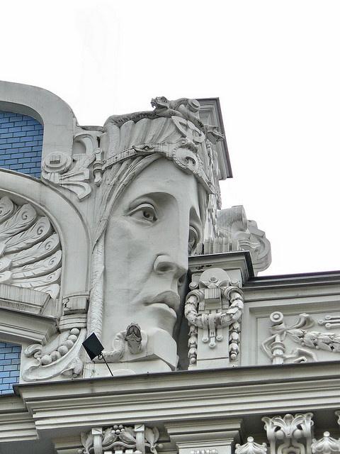 Art Nouveau > this bit shows the more cluttered end of Nouveau style.