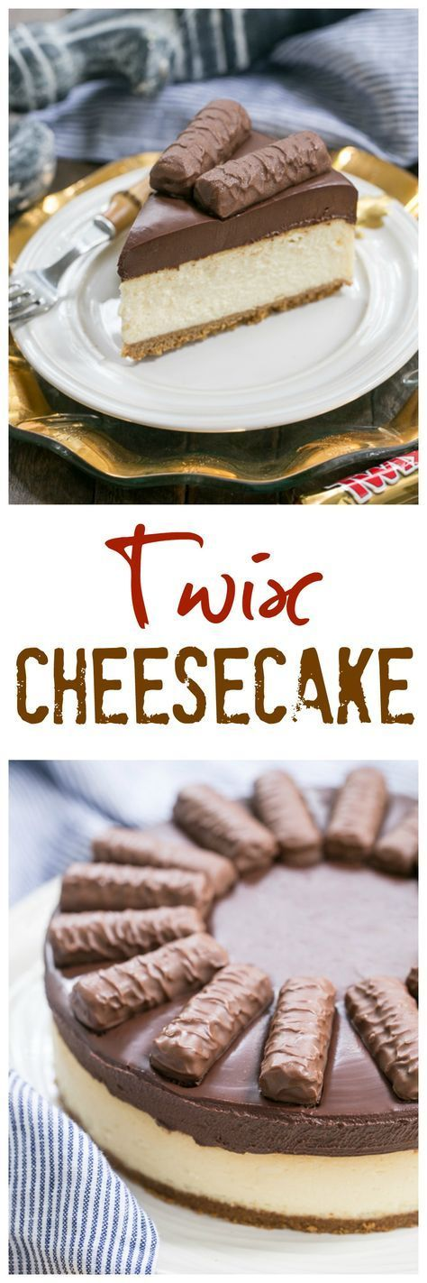 Twix Cheesecake   A dream cheesecake for chocolate and caramel lovers! @lizzydo