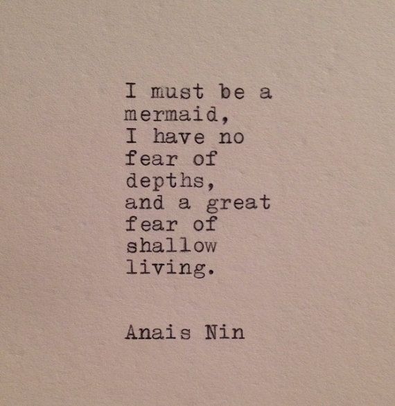 Anais Nin Mermaid Quote Typed on Typewriter by WhiteCellarDoor, £5.50 BOUGHT