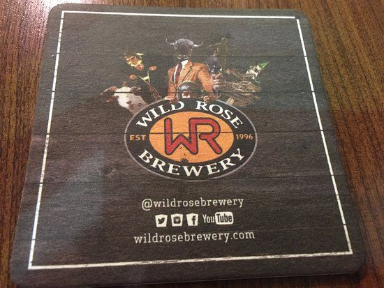 #WildRose Brewery coaster at Molson Brewhouse Calgary International Airport | 2000 Airport Dr NE