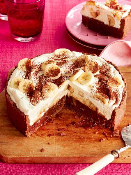 Bananen-Karamell-Schoko-Kuchen