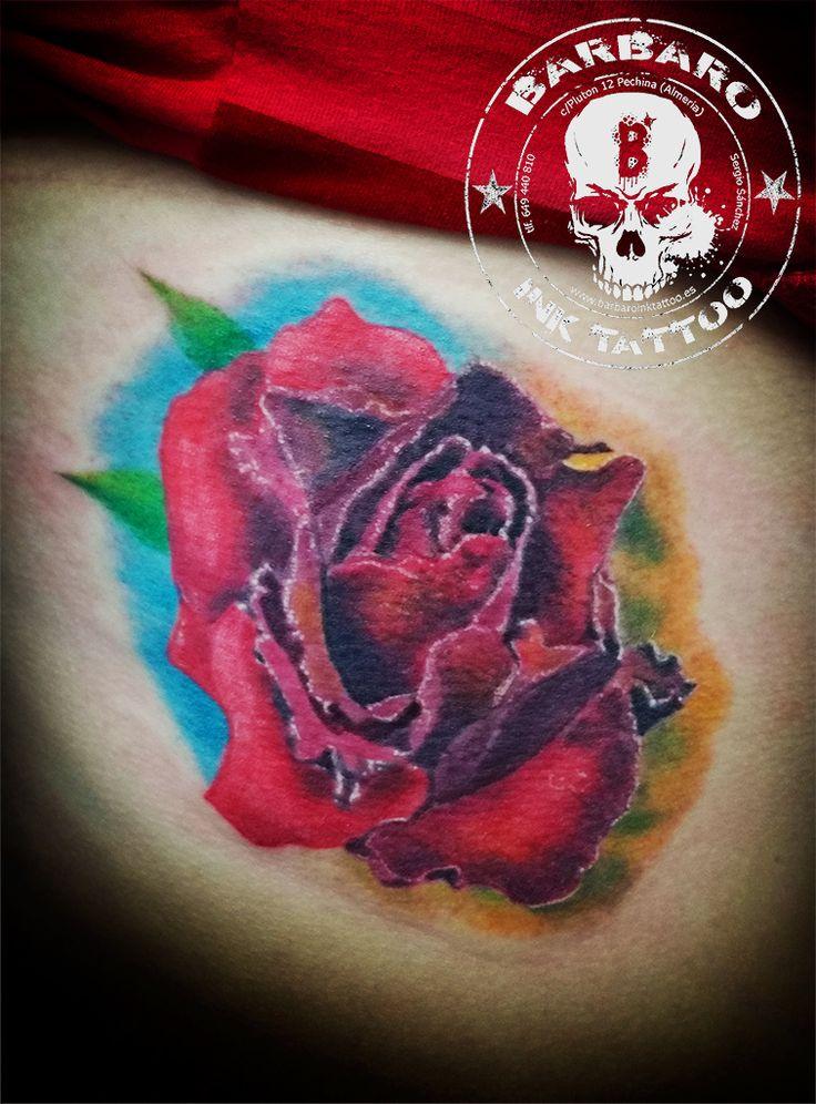 #rosetattoo #tattoo #tattoocolor #tattoodesign #almeria #amor #love #almeria #tattoospain #malaga #granada #murcia #españa #tattooed #tattoogirl