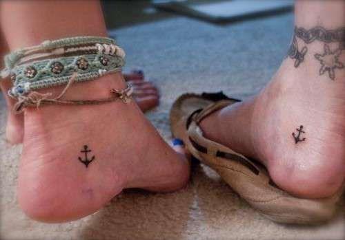 Tatuajes en los pies: Fotos de los mejores diseños - Tatuajes en los pies: Anclas