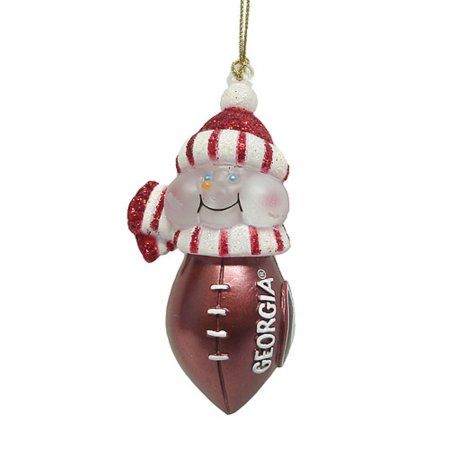 Christmas Buy Now NCAA Georgia Bulldogs Lighted LED Football Snowman