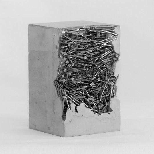 by Benoist Van Borren Sculpture Steel Concrete