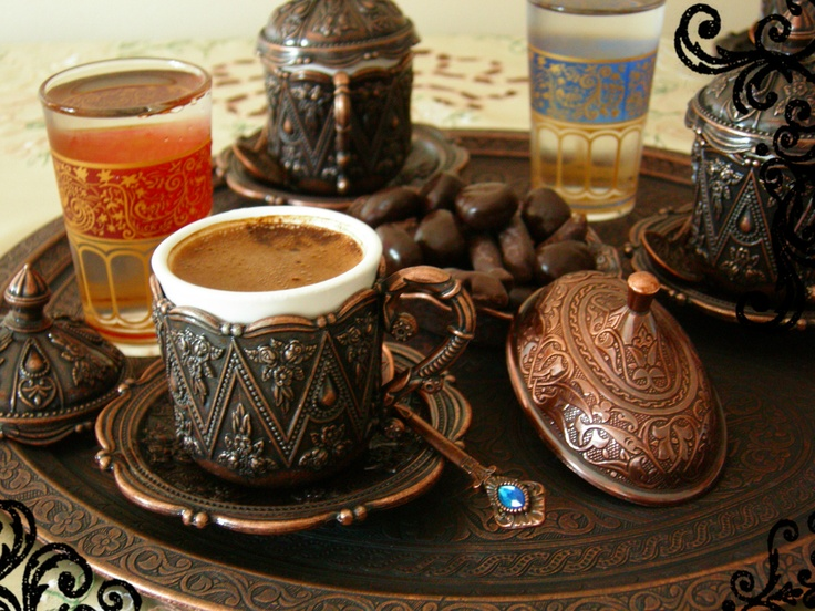 my precious coffee set has arrived from Erzincan, the land of coppersmiths.