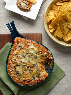 """Queso Fundido for the Epicurious Game Day Giveaway, visit our blog for details on how you could win a 42"""" TV: http://www.epicurious.com/articlesguides/blogs/editor/2013/01/enter-epicurious-gameday-giveaway-on-pinterest.html"""