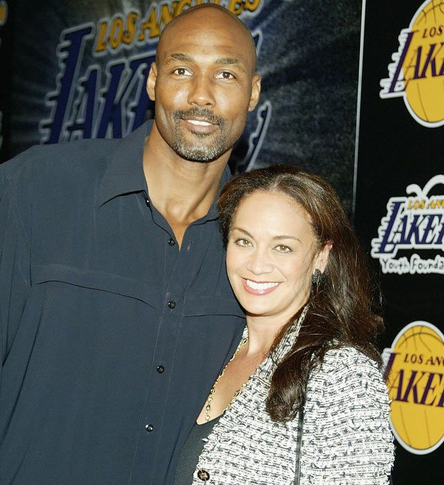 Karl Malone, African American, former NBA star, and his ...