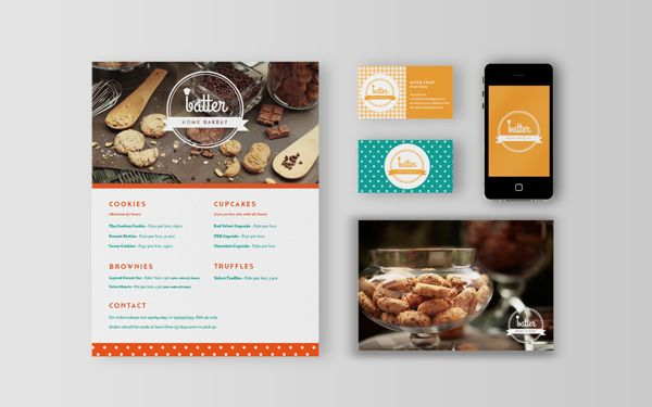 Batter Home Bakery by Moving Things Design Co. , via Behance