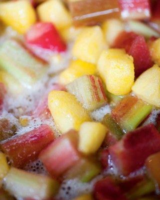 Confituur van appelen en rabarber