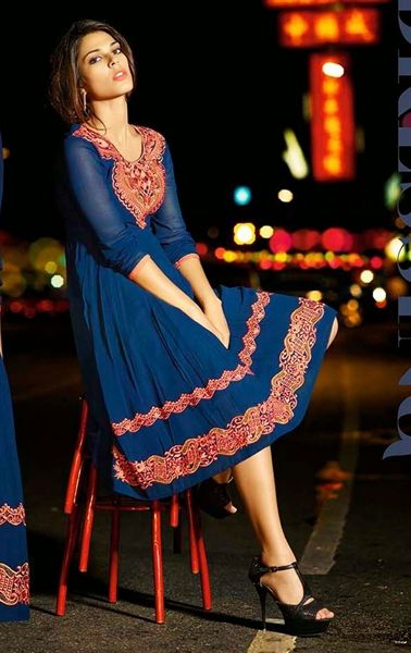 Picture of Marvelous Blue Indian Designer Kurti