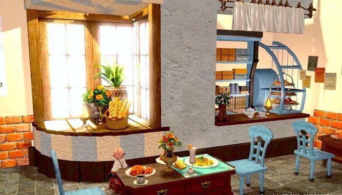 ショーウィンドウのあるカフェテラス Housing Snap テラス カフェ