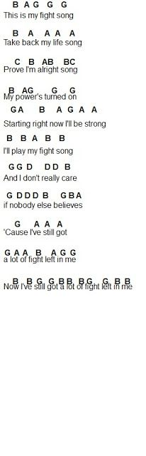 Flute Sheet Music: Fight Song