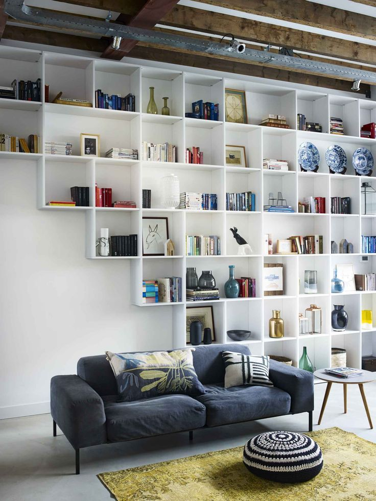 21 Shelving Ideas. Messagenote.com Floating white bookcase
