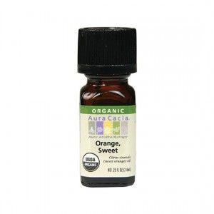 Aura Cacia Organic Sweet Orange Essential Oil 0.25 fl. oz.