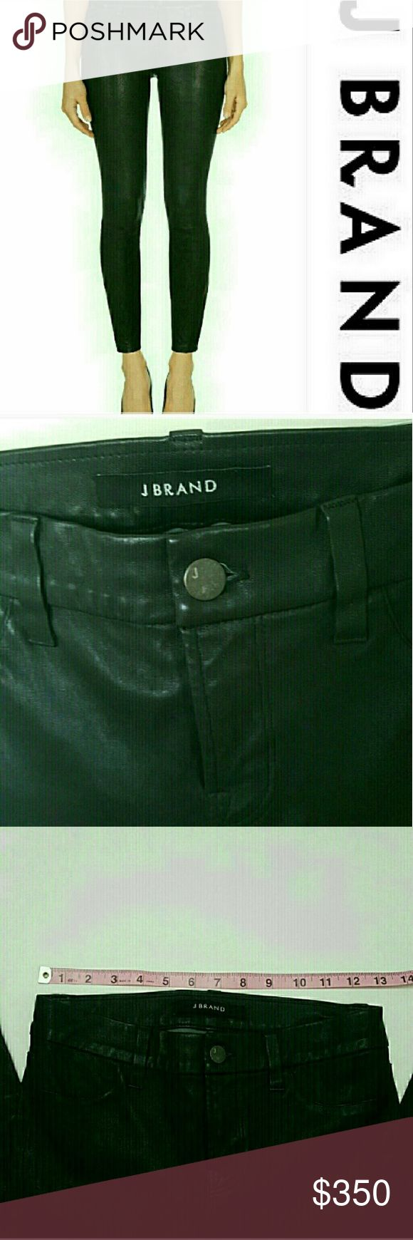 Perfect condition! J. Brand lambskin leather pants In perfect condition! J Brand leather black pants, size 26=2. See sizing recommendation in picture.  Cropped cuff style. Tight fitting.  100% lambskin leather. Sold out online/ in store. Slightly cropped style. 24.5 inch inseam. New without tags  Bundle using the bundle feature and save! j brand  Pants