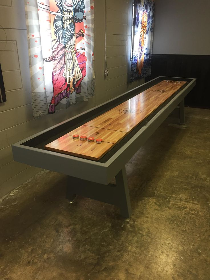 Built a Shuffleboard Table (x-post from r/woodworking) (#QuickCrafter)