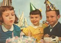 vintage verjaardagskaarten -